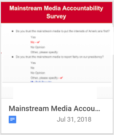 Mainstream Madia Accountability Survey
