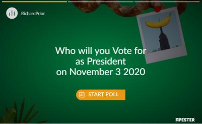 poll for president 2020